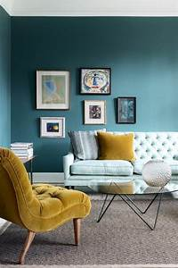 Tapis Salon Bleu Canard : salon bleu p trole bleu canard et bleu paon d coration pinterest maison salon et deco ~ Melissatoandfro.com Idées de Décoration