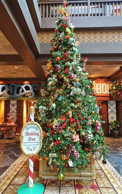 disney world put  christmas decorations