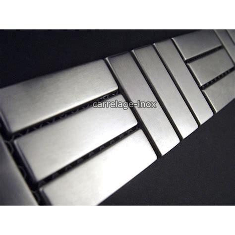 mosaique cuisine credence listel inox frise acier metal mosaique carrelage bordure duplica