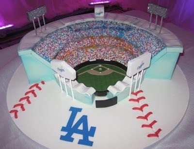 la dodgers stadium dodger stadium wedding cake