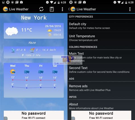 free weather apps for android free weather app for android smartphones tablet