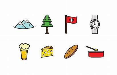 Icon Vector Switzerland Pack Swiss Cheese Clipart