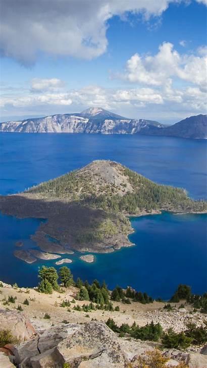 Lake Crater 4k Nature Mountain Usa Wallpapers