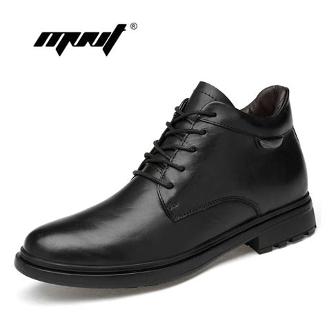 Genuine Leather Ankle Men Boots Autumn Winter Fashion