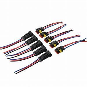 Waterproof 5x Auto Automotive Wire Connector Plug 3 Pin