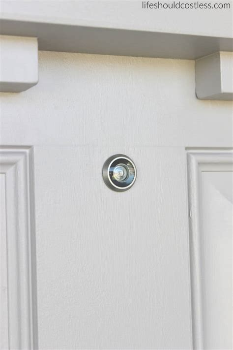 how to install a peephole in a door peep