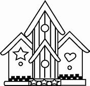 Amazing Bird House Coloring Pages  Best Place To Color