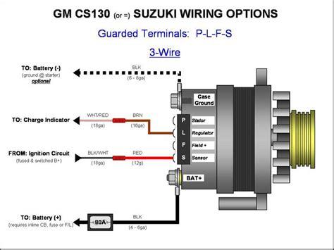delco remy cs130 alternator wiring diagram delco