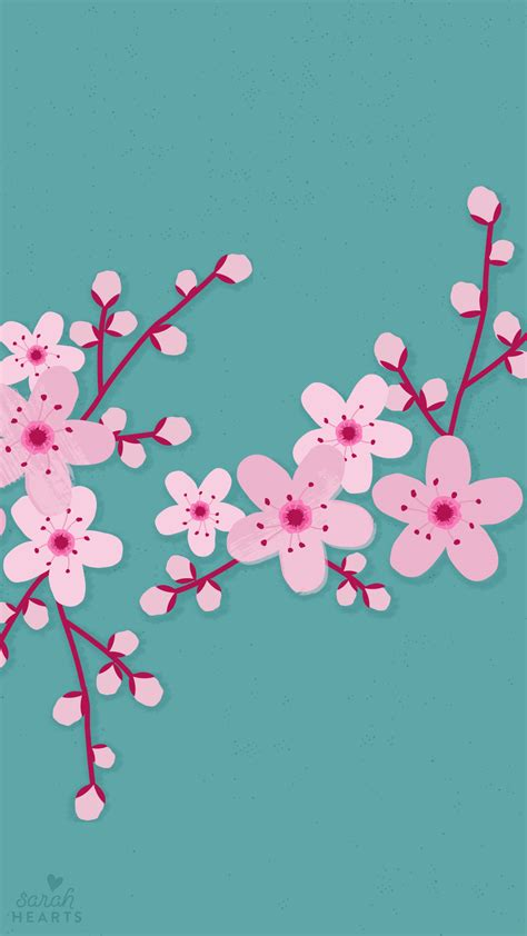 march  cherry blossom calendar wallpaper sarah hearts