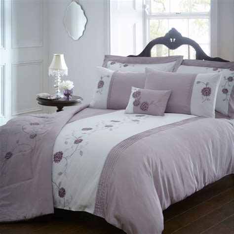 Debenhams Lilac 'audrey' Bed Linen Pair Of Oxford