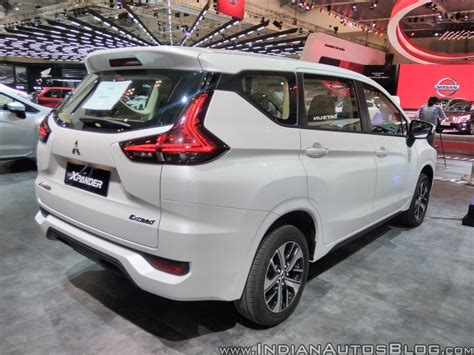 mitsubishi expander giias mitsubishi xpander rear three quarters right side at giias