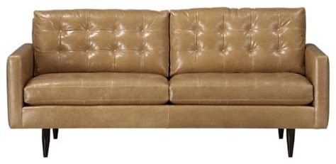 Petrie Apartment Sofa by Petrie Leather 76 Quot Apartment Sofa Crate Barrel