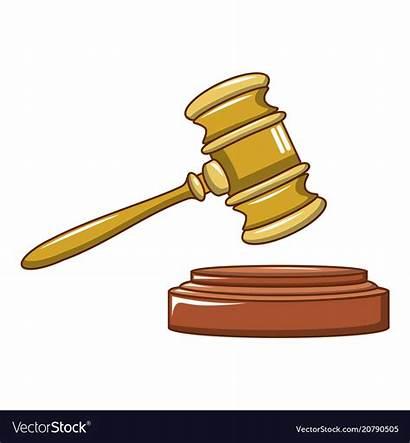 Gavel Judge Cartoon Icon Vector Wood Royalty