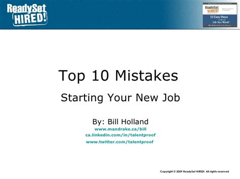 Top 10 Resume Mistakes Linkedin by Top 10 Mistakes 10 Starting Your New