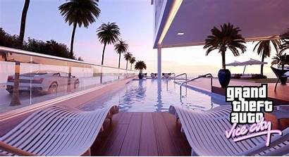 Vice Theft Grand Swimming Pool Wallpapers Gta