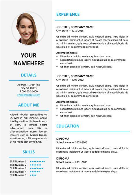 ikebukuro resume template