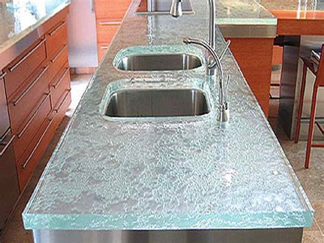 Beautiful granite countertops, recycled glass countertops