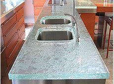 Beautiful granite countertops, recycled glass countertops