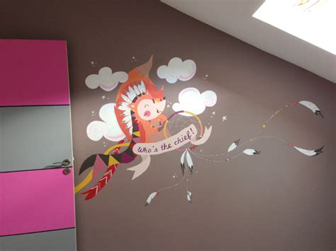 fresque murale chambre fille fresque murale chambre d enfants popote créativ