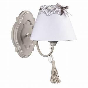 Shabby Chic Weiß : wandlampe clarice beige wei im landhausstil wandleuchte shabby chic ~ Frokenaadalensverden.com Haus und Dekorationen