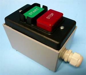 Hd Safety Start    Stop Switch 110  220v   Metal Enclosure