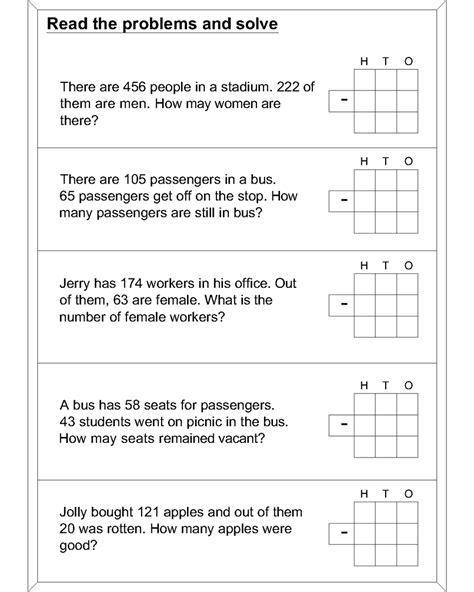 maths worksheets word problems math worksheets division