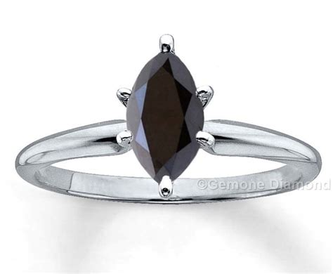 Marquise Diamond Ring In 14k White Gold For Sale Online