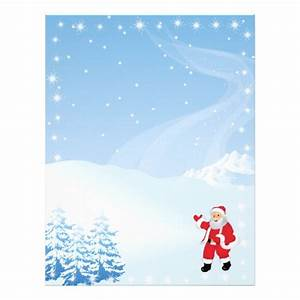Christmas letter paper santa waving letterhead zazzle for Christmas letter paper