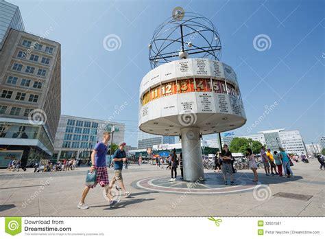 people walk  alexanderplatz  berlin germany editorial