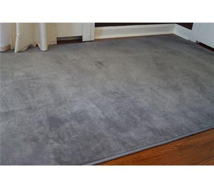 Microfiber Dorm Rug   Steele Gray Soft Floors Carpeting
