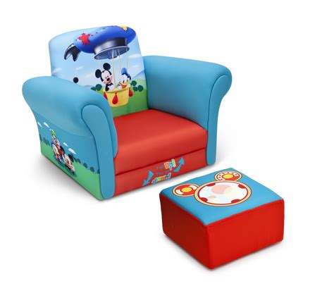 delta children mickey mouse upholstered chair with ottoman