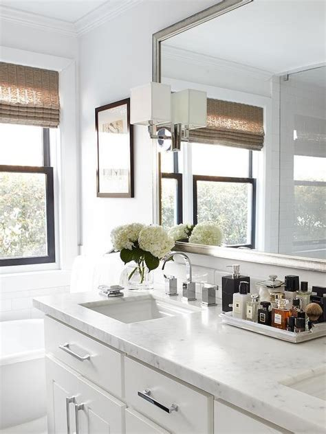 white carrera marble countertops traditional bathroom