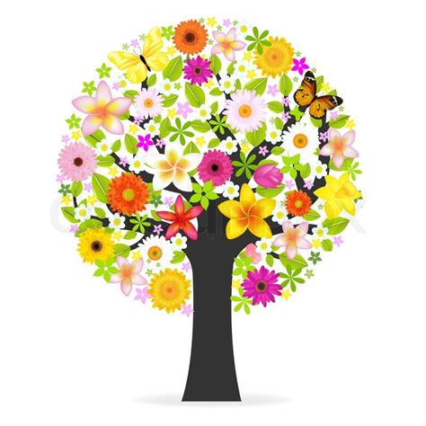 pictures of flowers and trees flower tree stock photo colourbox