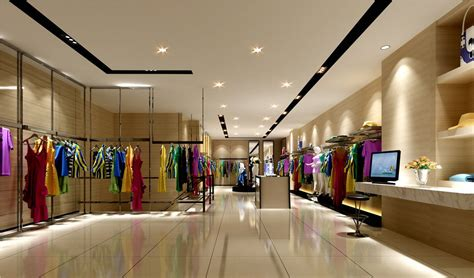 home interior in india clothing store interior decoration view
