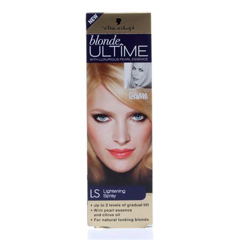 scwarzkopf blonde ultime lightening spray natural hair