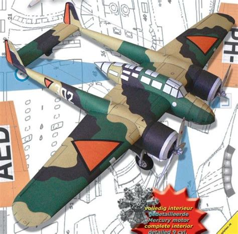 Wwii Fokker G.i Mercury Fighter Free Aircraft Paper Model