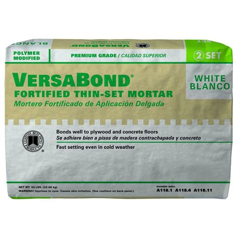 custom building products versabond white 50 lb fortified