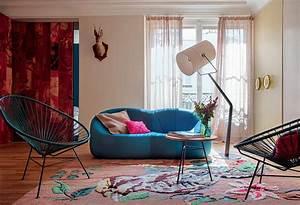 un appartement de 60 m2 inspire d39un conte de perrault With tapis champ de fleurs avec paola navone canape