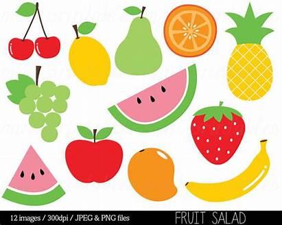 Fruit Clip Clipart Salad Watermelon Pineapple Pear