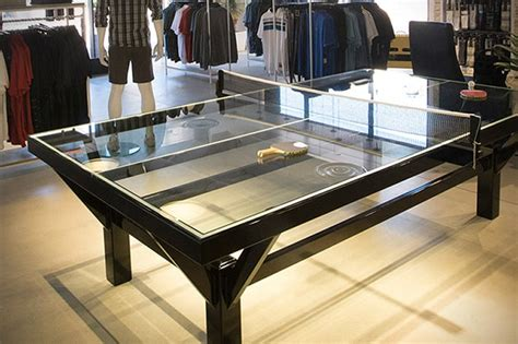 most expensive table tennis table the travismathew glass top ping pong table