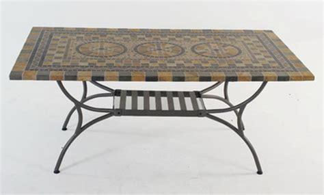 mosaiktisch mit stühlen aks korsika mosaiktisch 180x100 cm eckig grau schwarz beige tische m 246 bel aks im garten