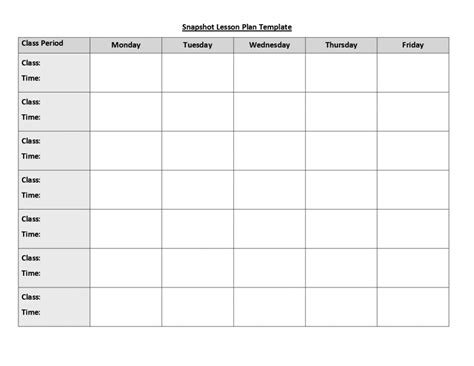 Weekly Lesson Plan Template Weekly Lesson Plan Template Doc Template Business
