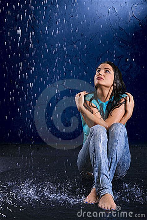wet girl royalty  stock  image