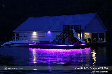 Boat Led Strip Lights by Dock Lighting With Led Strip Lights Flexfire Leds Blog