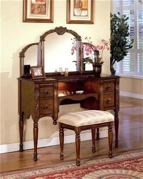 oak dressing table traditional bedroom makeup