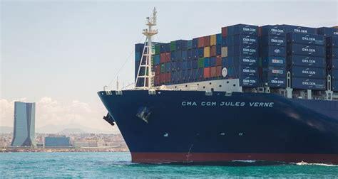 porte conteneur jules verne transport cma cgm inaugure le plus grand porte conteneurs du monde enviro2b