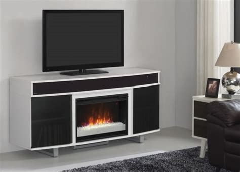enterprise white infrared media electric fireplace