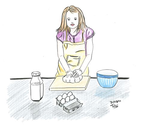 dessins de cuisine pin dessin fille de on