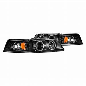 CG® - Ford Mustang 2001 Black Dual Halo Projector LED Headlights