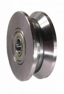mapp caster hac300d50 2quot x 3 4quot steel v groove barn door With barn door caster wheels